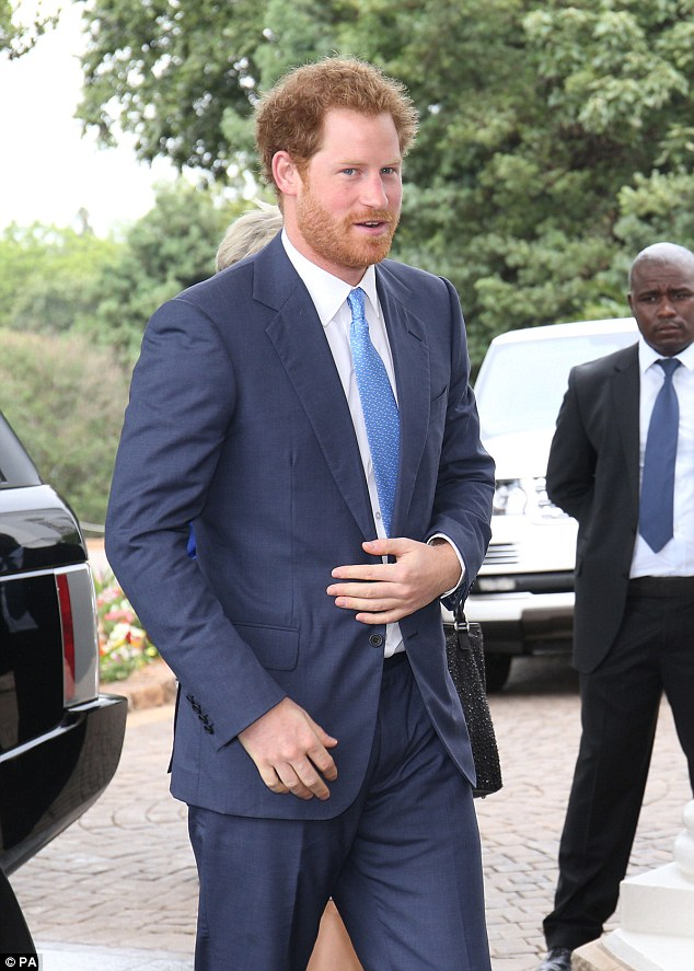 President Zuma previously criticised the UK for having a 'colonial attitude' towards his multiple marriages, but he was still happy to welcome the royal to an audience at his residence