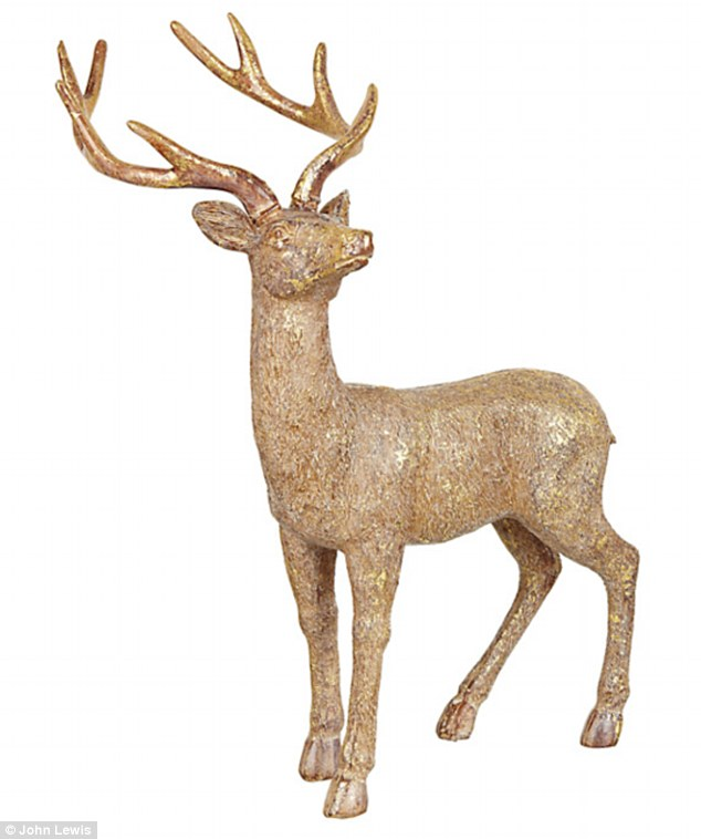 Gold Reindeer Christmas Decorations