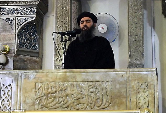 Malik reportedly left a post on an account under a different name aligning herself with Abu Bakr al-Baghdadi (pictured), the leader of ISIS in the Middle East