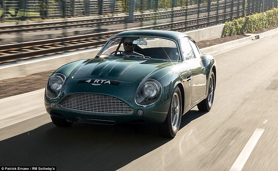 Not cheap: The DB4 GT Zagato is set to go under the hammer in New York next Thursday where experts predict it will fetch £10million