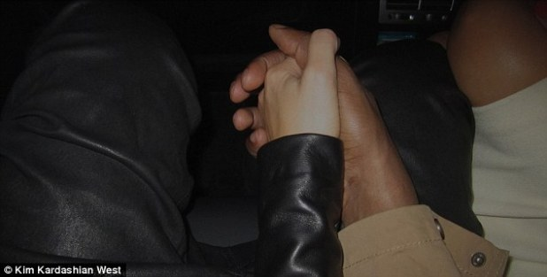 Happy news: The new parents shared a sweet picture showing them holding hands