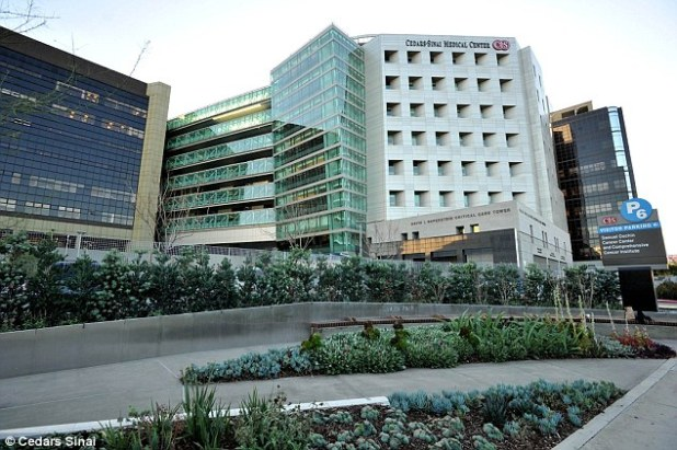 Maternity ward: Cedars-Sinai Medical Center in Los Angeles, where Kim Kardashian gave birth to North in 2013 and to a new baby son on Saturday