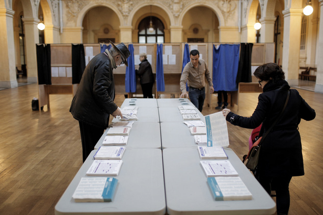Image result for photos of france voters