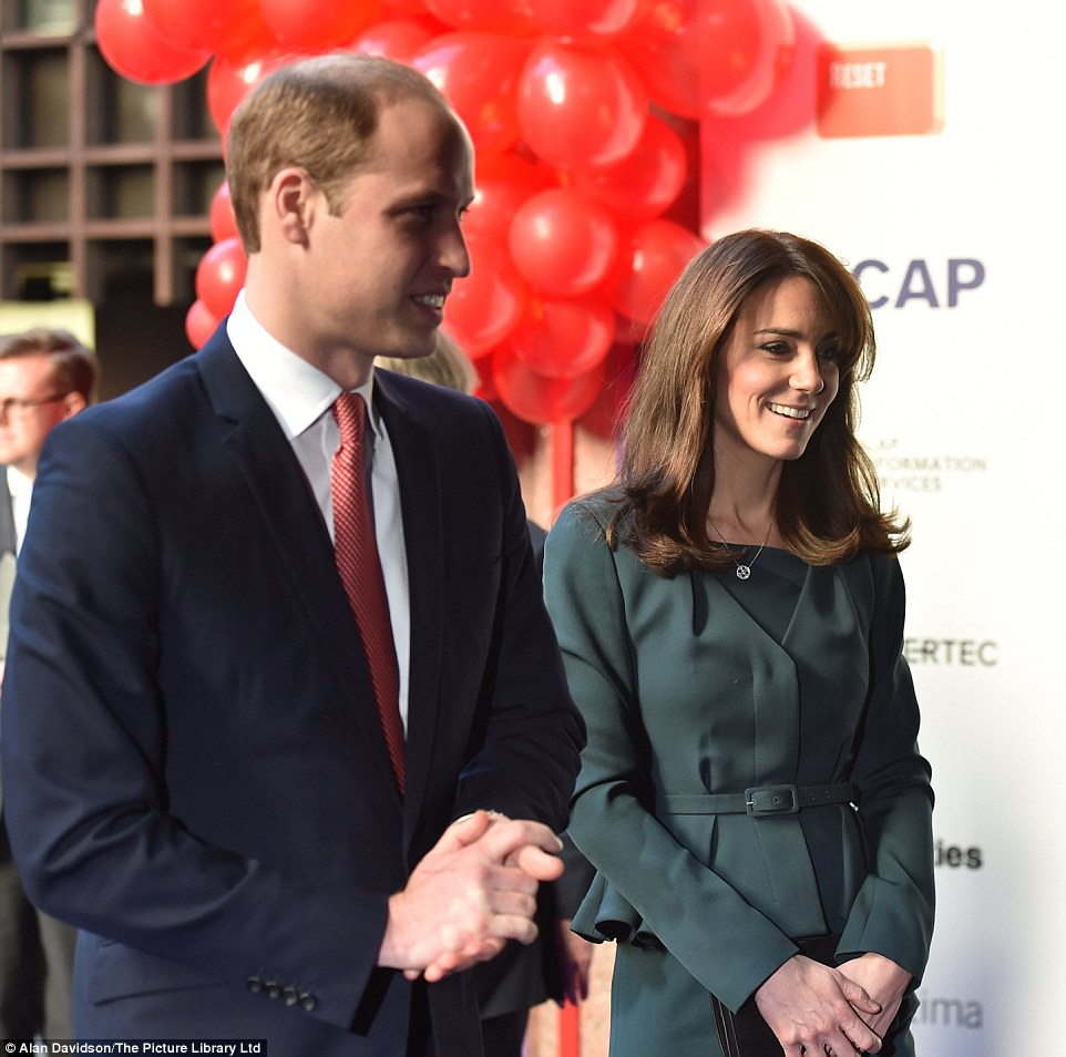 Kate, wearing a favourite suit by L.K. Bennett, and her husband, Prince William, were at the 23rd ICAP annual Charity Day in the City of London on Wednesday