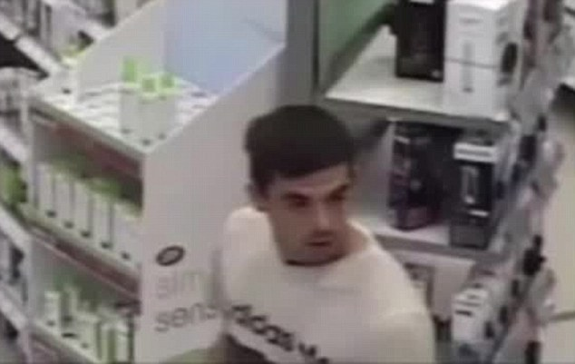 Appeal: Police are now hoping to speak to the man about his alleged crimes