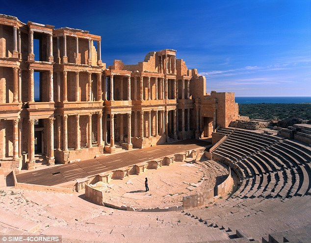 Priceless: A spectacular third-century Roman amphitheatre in the Unesco world heritage city, which there are now concerns will be destroyed by ISIS