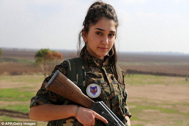 """After leaving behind her studies,Christian Ormia is now a member of the battalion called the """"Female Protection Forces of the Land Between the Two Rivers'"""