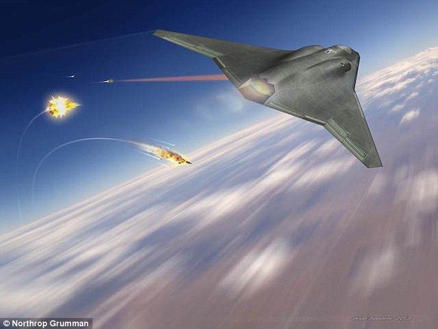 Known internally as NG Air Dominance, the craft features laser weapons. The so called 'sixth generation fighter' is rumoured to fly at supersonic speeds, although Northrop Grumman, who are developing it, say the specifications are still classified.