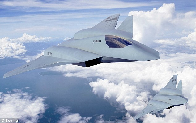 Boeing (pictured) and Northrop Grumman are both developing concepts.