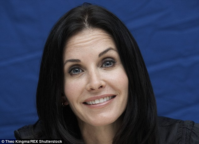 Courteney shocks: What has startled Courteney Cox, 51-year-old star of TV series Friends and the Scream films? She looks as smooth as a doll, and admits: 'Sometimes I use Botox. I don't have a problem with any of that stuff if it makes you feel better'