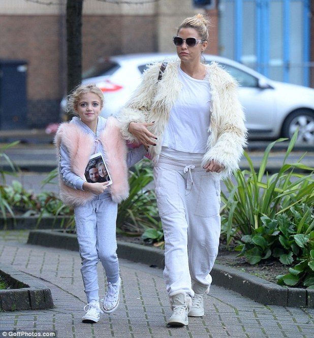Like mother, like daughter! Katie Price and daughter Princess rocked similar outfits on Tuesday morning