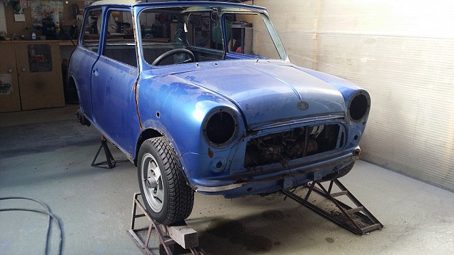 Before and after: Mr Cohen plans to spend £8,000 restoring the mini
