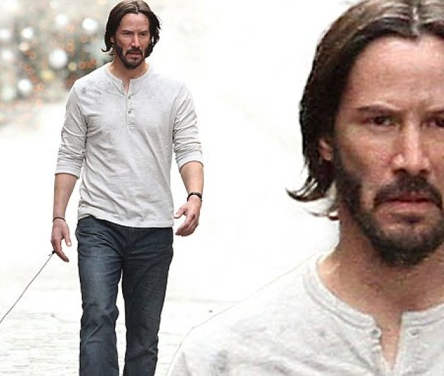 Keanu Reeves Takes His Pit Bull On Walk For John Wick Sequel Shoot In Nyc Daily Mail Online