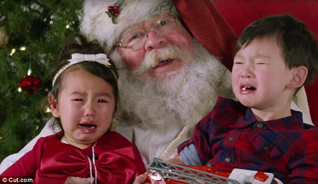 Watch Kids Cry In Santas Lap As Parents Try To Capture A