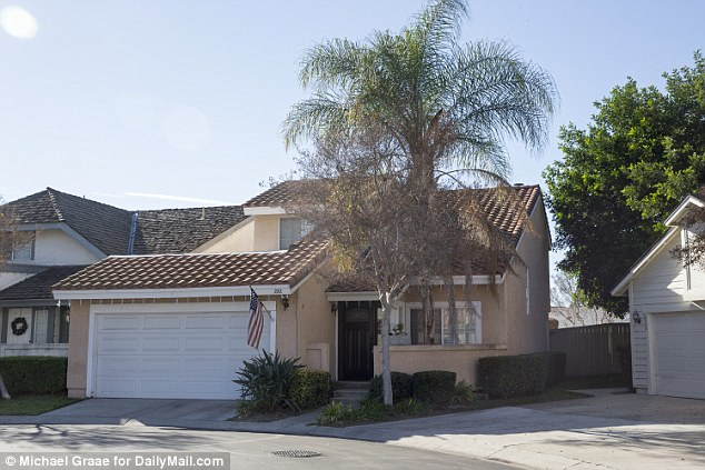 American life: Mariya Chernykh and Oscar Romero share this home in Ontario, CA. Despite the Stars and Stripes it appears she was in a sham marriage with Enrique Marquez, who purchased guns for the San Bernardino shooters