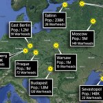 Map Shows European Cities U S Was Prepared To Drop A Bombs Across During Cold War Daily Mail Online