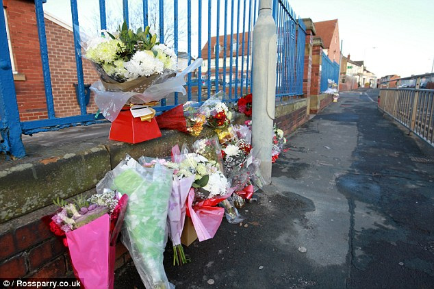 Floral tributes were today placed at the scene of the fatal crash in which three pedestrians died and another was critically injured when they were hit by a blue Volvo S60 car as they walked home in Askern, Doncaster
