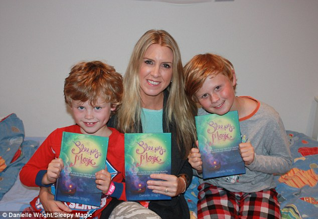 Tried and tested: Mrs Wright performs the five-step bedtime ritual with her sons Evan, 10 and Ben, 6, each night