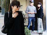 Selma Blair checks out an art piece on Melrose Place with a male friend before grabbing coffee at Alfred Coffee & Kitchen in West Hollywood.nnPictured: Selma BlairnRef: SPL1201621  301215  nPicture by: LA Photo Lab / Splash NewsnnSplash News and PicturesnLos Angeles: 310-821-2666nNew York: 212-619-2666nLondon: 870-934-2666nphotodesk@splashnews.comn