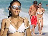 Picture Shows: Jack Gilinsky, Madison Beer  December 30, 2015  Actress and singer Madison Beer shows off her bikini body while enjoying a beach day in Miami, Florida with her boyfriend Jack Gilinsky. The loved up couple were all smiles.  Non Exclusive UK RIGHTS ONLY  Pictures by : FameFlynet UK © 2015 Tel : +44 (0)20 3551 5049 Email : info@fameflynet.uk.com