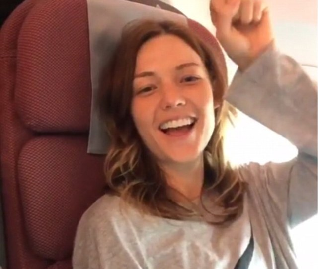 Only The Best Sam Frost Enjoyed The Luxury Of A Premium Cabin While She Sat