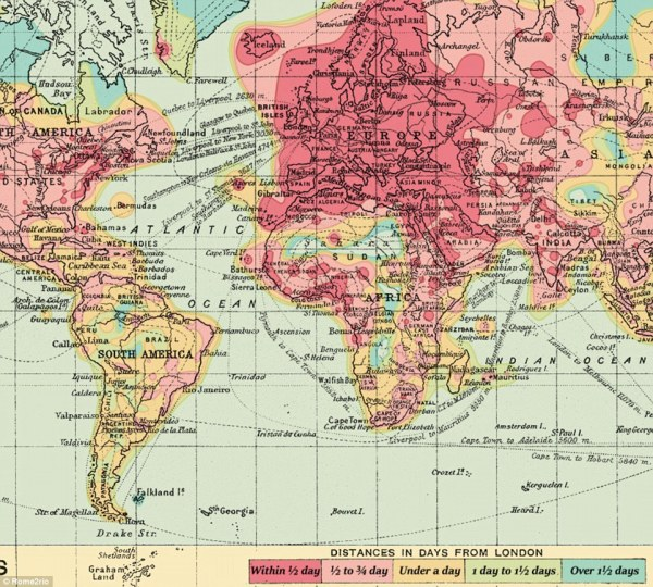 Maps reveal how long it takes to travel in 1914 and 2016 ...