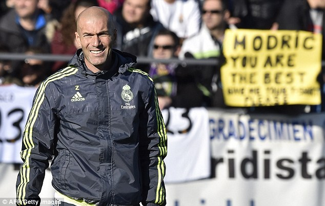 Madrid supporters flocked to the club's training ground to watch Zidane at work with the team for the first time