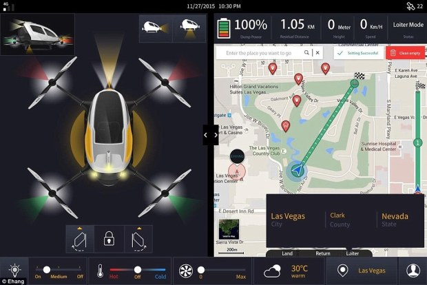 The 184 uses multiple independent flight control systems to automatically navigate passengers from point A to point B.