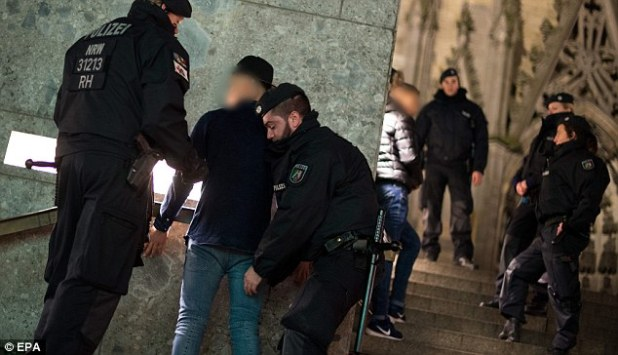 Shocking: One officer in Cologne said it was the worst level of disrespect he had seen in a 30-year career