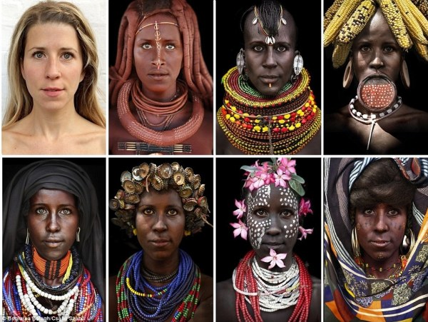 Boglarka Balogh edits her face onto photos of African ...