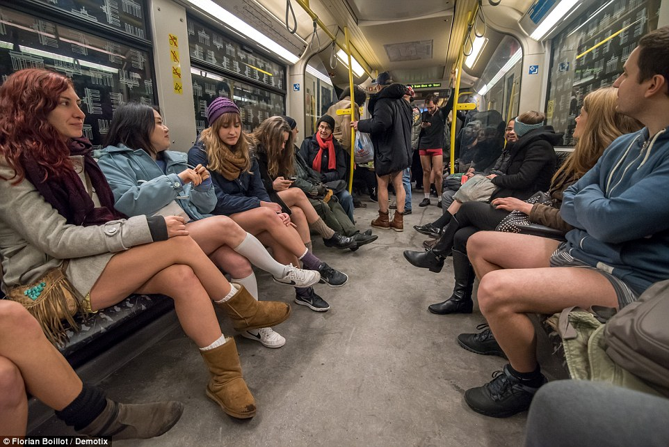 Improv Everywhere, the group responsible for coordinating the 'No Pants Subway Ride, said the event is supposed to make people smile