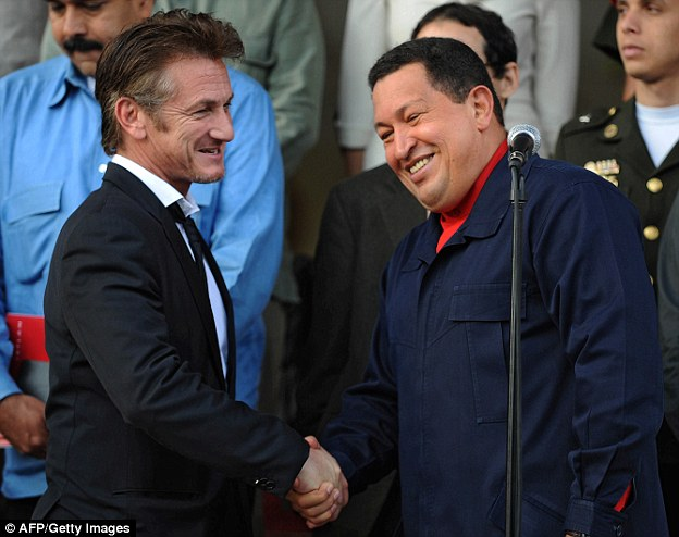 Penn became close friends with former Venezuelan president Hugo Chavez after they met in 2007