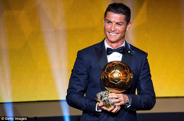 Image result for Real Madrid and Portugal superstar, Cristiano Ronaldo was crowned the world's best player for 2017, beating his rival Lionel Messi (Barcelona) and Neymar (PSG) to clinch the Ballon d'Or award for the fifth time in his outstanding career.     He now equals Lionel Messi who has won the award 5-times. In another context, Ronald and Messi have been the only two players to have won the award in the last 10 years.     Now social media is trolling Lionel Messi who used to be the favourite to clinch the award