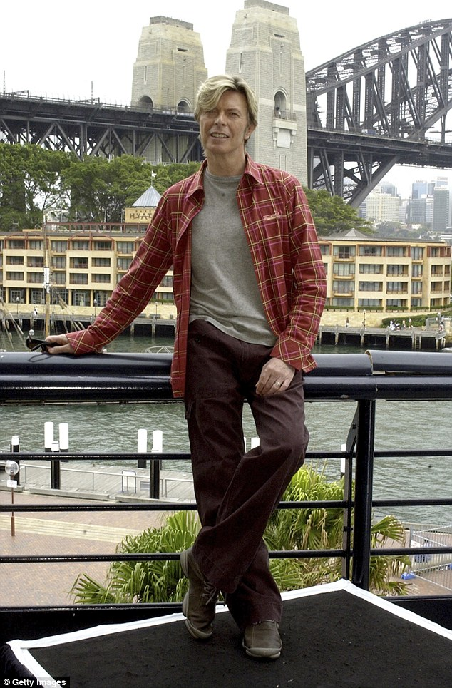 Australian love affair: The flamboyant rocker owned a luxury waterfront apartment in Sydney's Elizabeth Bay for a decade up until 1992, arguably the height of his career, but he would keep a low profile to avoid media attention. Pictured: David Bowie in 2004