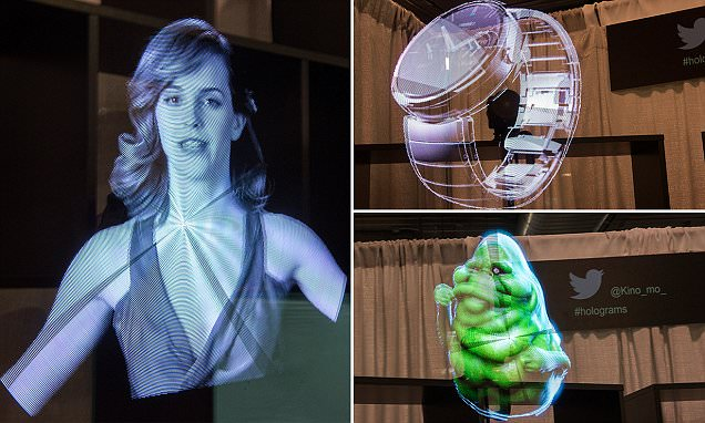 Holograms Are Here Kino Mo Projects Life Size Celebrities And Objects Anywhere Daily Mail Online