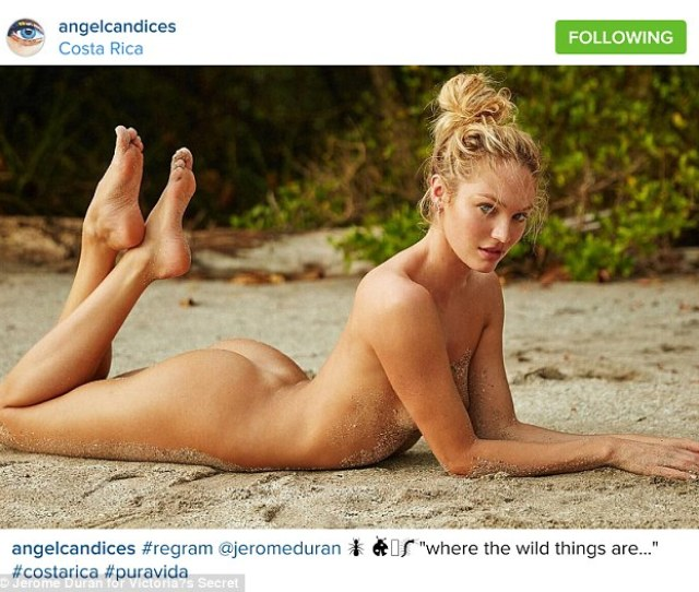 Baring It All Victorias Secret Model Candice Swanepoel Has Posted A Sexy Photo From The
