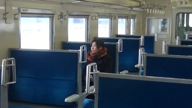 Kami-Shirataki station in Hokkaido, Japan picks up ONE passenger ...