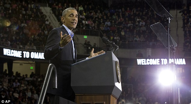 Slight fumble: President Obama had to take a moment and think how old the United States was on Wednesday night while delivering a speech at the University of Nebraska in Omaha