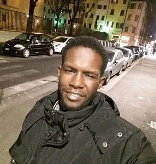 Ilegal: Diaw había entrado en Italia tan poco como hace dos meses ilegalmente de Senegal y publicado fotografías en medios de comunicación social, sugiriendo que estaba feliz de estar allí. Los fiscales dijeron que no creían que creen que sabía Olsen antes de su noche juntos