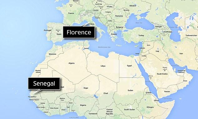 Ilegal: Diaw fue de Senegal en África occidental, pero había llegado a Italia tan sólo hace dos meses