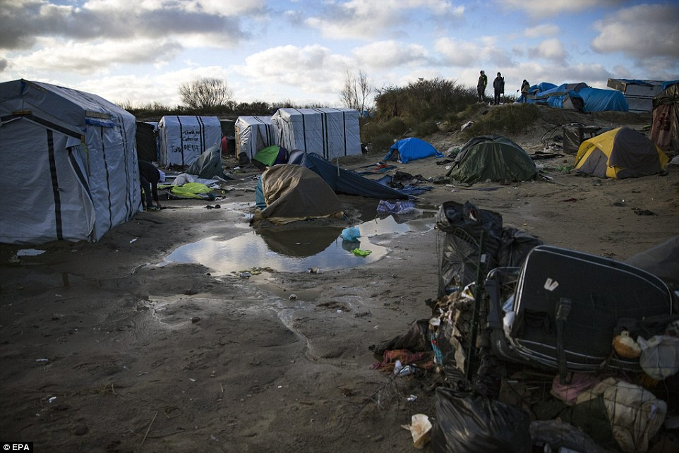The so-called 'Jungle camp' in Calais, pictured, was recently described by UN aid workers as the 'worst in Europe - if not the world'