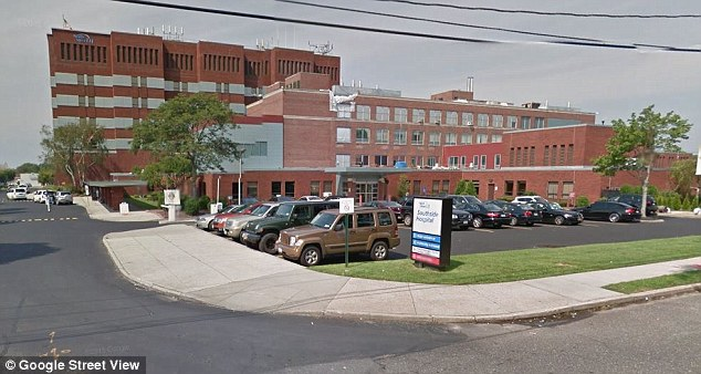 Sara and Padraig Keenan are seeking unspecified damages from Dr Hoffman-Rosenfeld, Northwell Health - which runs Southside Hospital (pictured), Suffolk County, the ambulance company and more