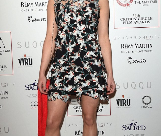 Maisie Williams Looked Lovely In A Funky Patchwork Markus Lupfer Dress As She