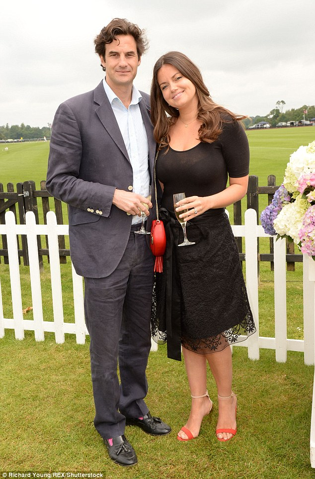 Rupert Finch and Natasha Rufus Isaacs pictured at the Cartier Queen's Cup at Windsor in 2015