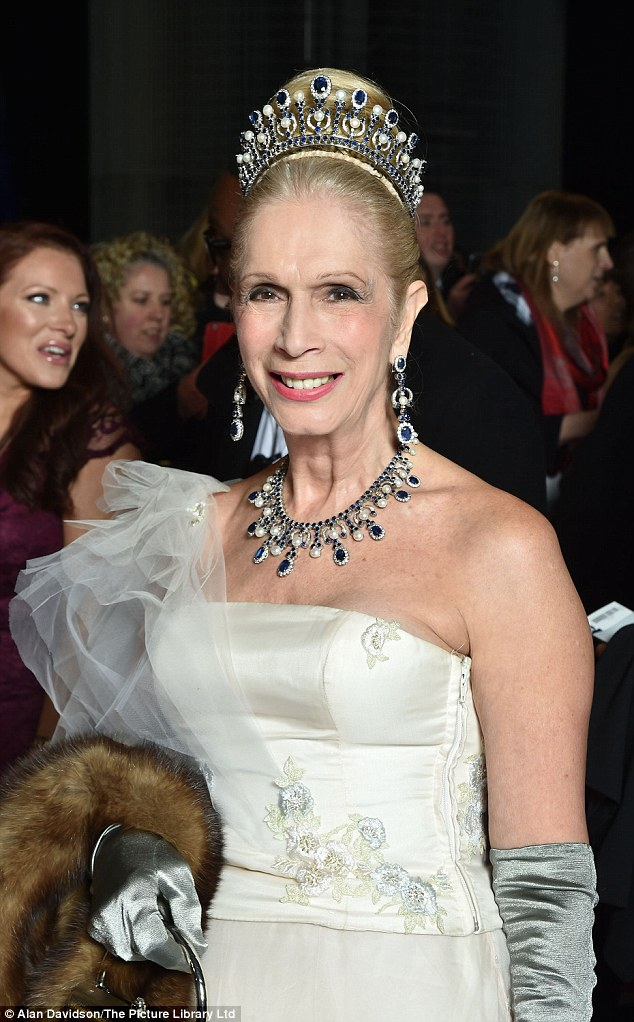 Lady Colin Campbell Wows In VERY Regal Gown At National