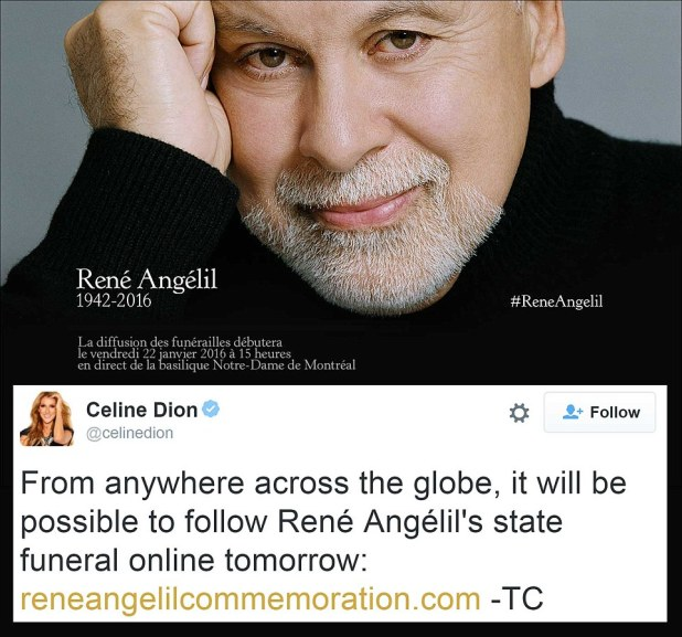 Announcement: The singer used Twitter to inform her fans they could watch her husband's state funeral online on Friday