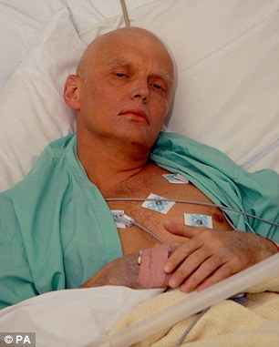 Alexander Litvinenko, pictured shortly before his 2006 death, accused the Russian president of involvement in his killing while on his death bed in London