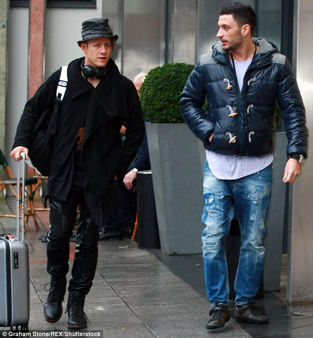 Ballroom buddies: While Frankie and Georgia headed to the arena on their own, their partners - Kevin Clifton and Giovanni Pernice - travelled there together