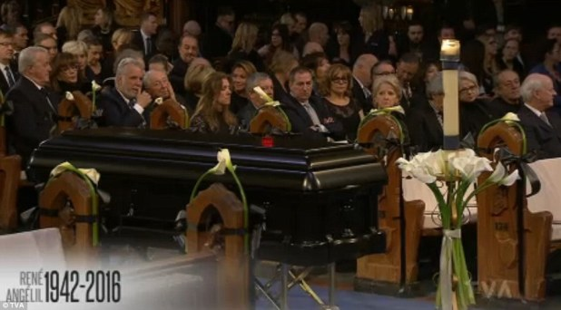 A national funeral is the closest a notable can get to a state funeral in Canada and is in part paid for by the government. The couple are so popular in the province and the country that Angelil was offered the highest honor.