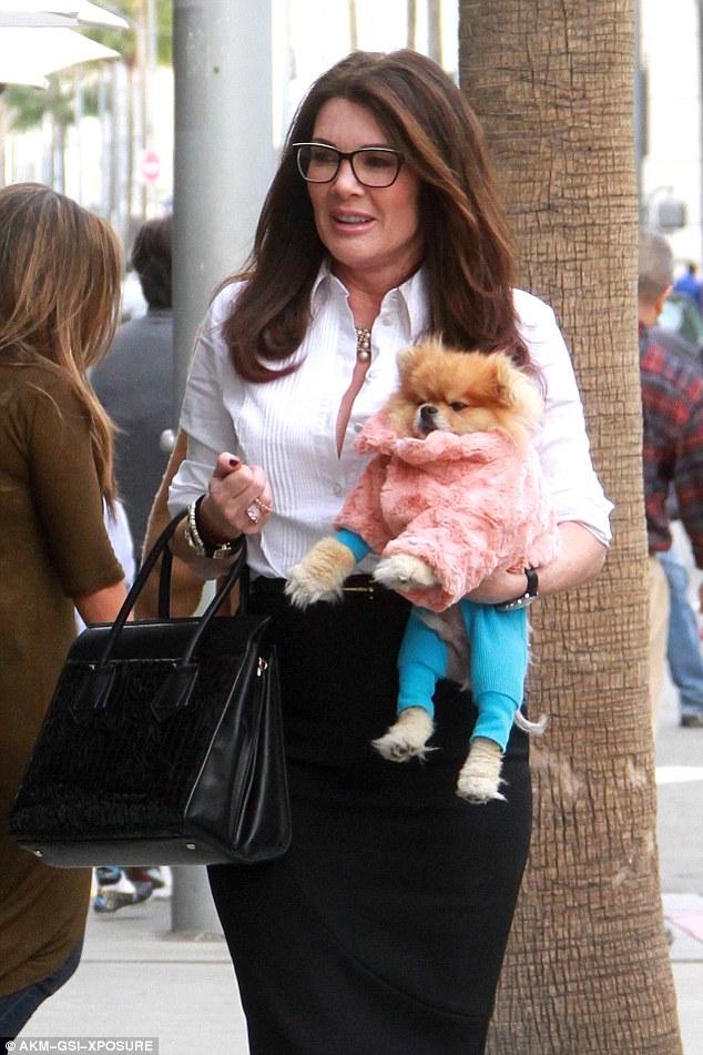 Lisa Vanderpump Takes Her New Pooch Prince Harry To Her